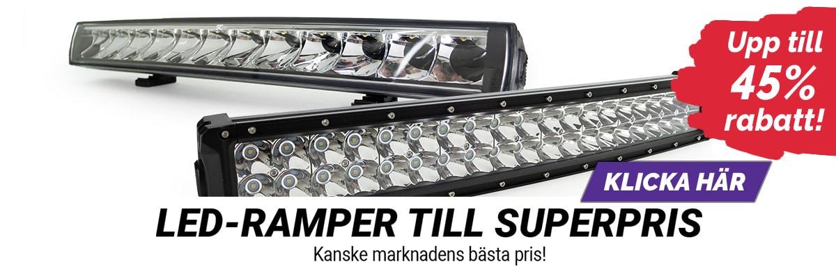 Upp till 45% rabatt på LED-ramper!