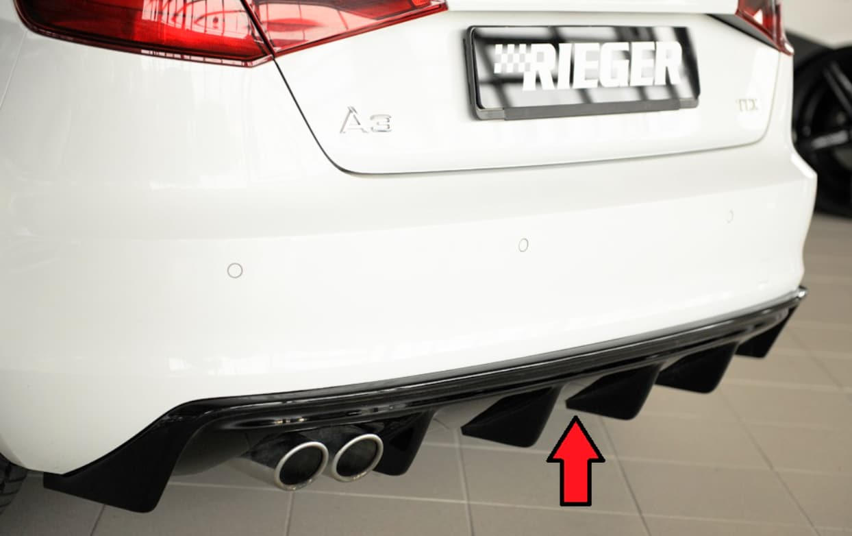 Blanksvart Diffusor Audi A3