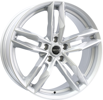 Complete winter wheel set of Rosso RR8 Silver