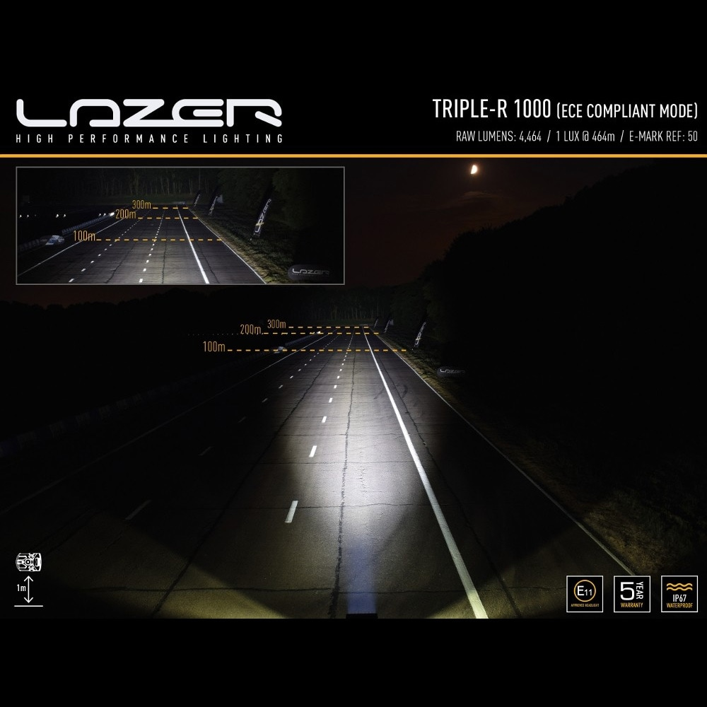 LED-ramp Lazer Triple-R 1000 Titanium 41cm (Spot)