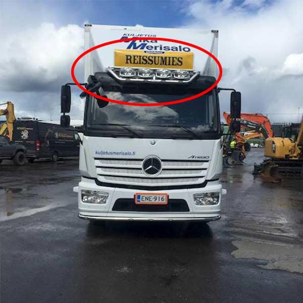 Frontbåge övre passande Mercedes Atego
