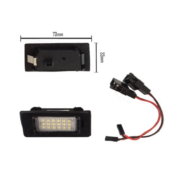 LED Nummerskyltsbelysning Audi & VW