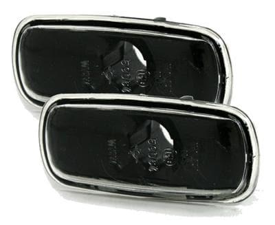 Skärmblinkers klarglas med svart botten