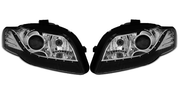 Devileyes Strålkastare LED Svart Audi A4