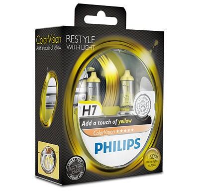 H7 Color Vision Gula lampor
