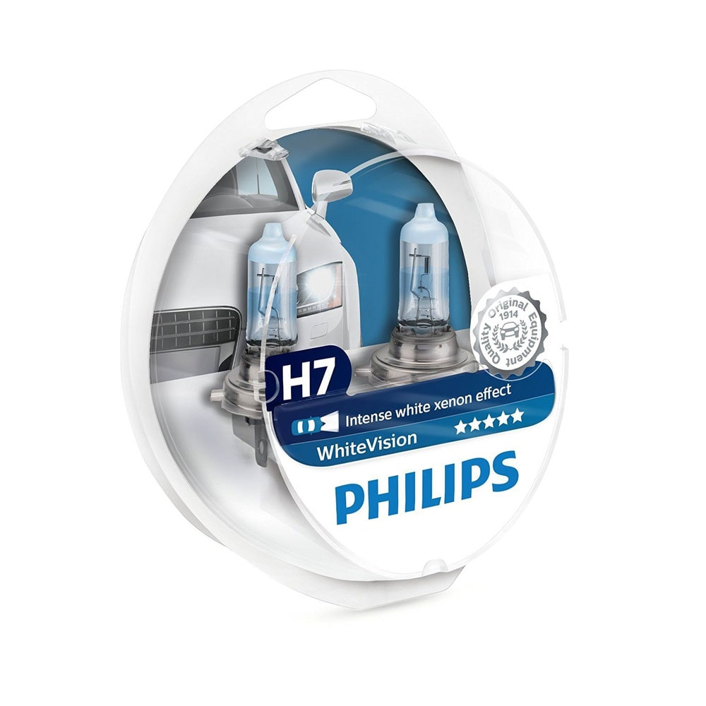 H7 Philips White Vision Intense Xenon