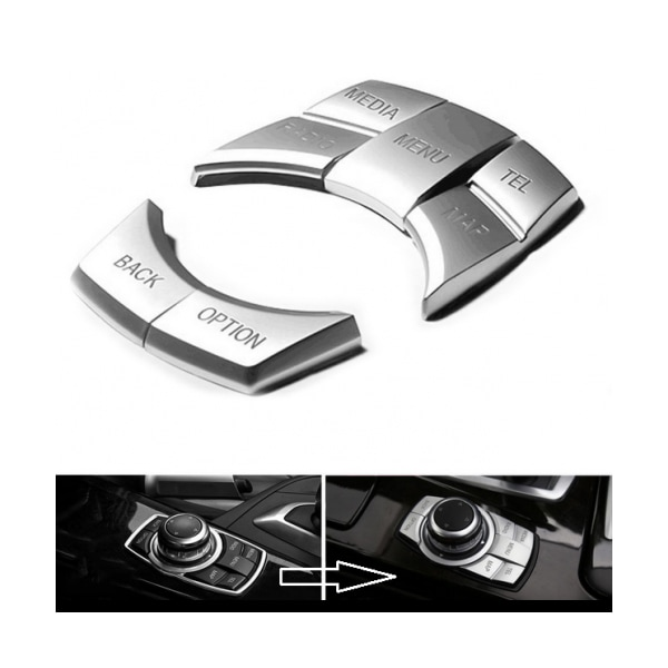 Silverknappar till BMW Navi Professional