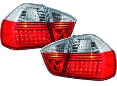 LED Baklampor Röd Vita BMW E90