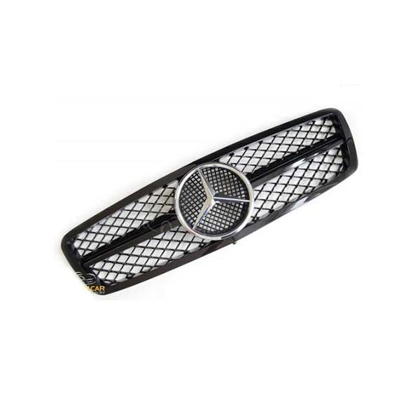 Blanksvart Grill Mercedes W203 C-klass