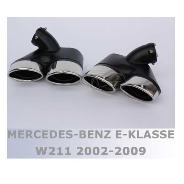 Exhaust tips muffler double- Mercedes W211 Sedan
