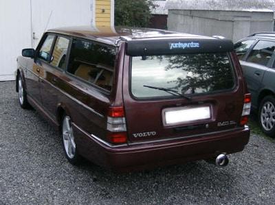Baklampor röd/vita Volvo