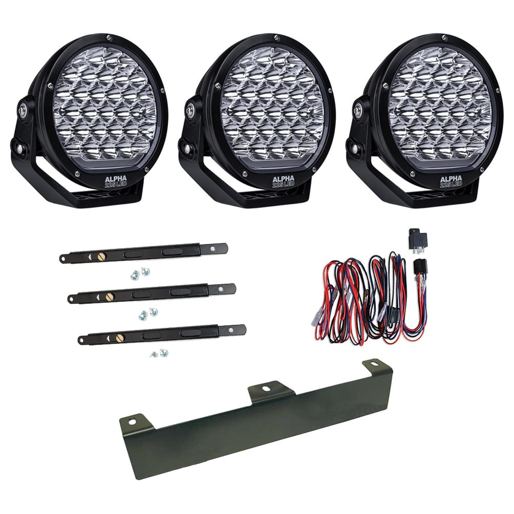 3-Pack Extraljus Alpha 225 9´ LED - NBB
