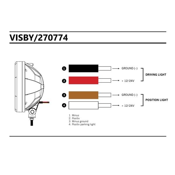3-Pack Visby Halogen 9´ - SLD