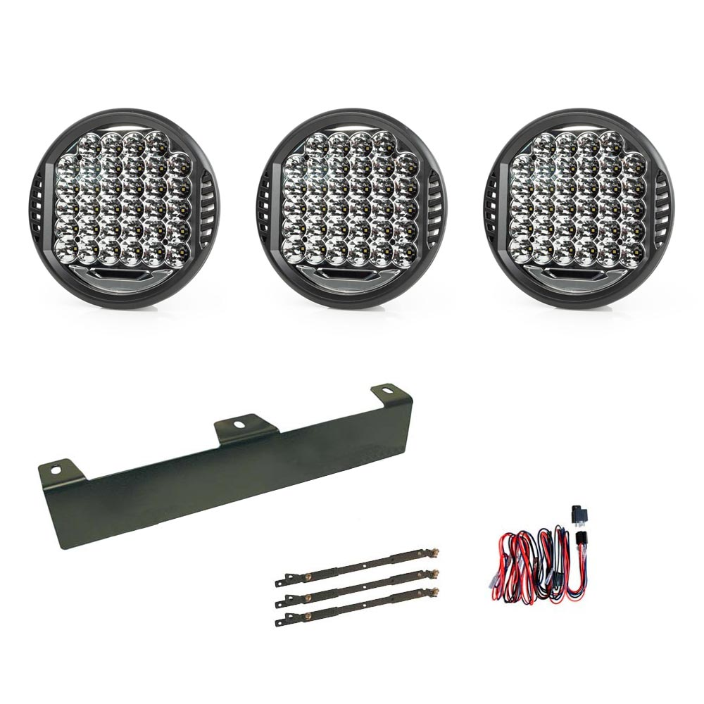 "3-Pack Extraljus Atlas 9"" LED - SLD"
