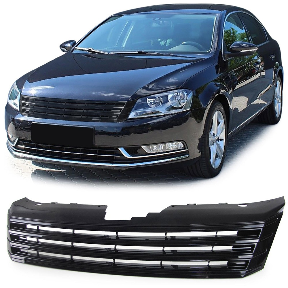 Glossy black  without badge Grill VW Passat B7