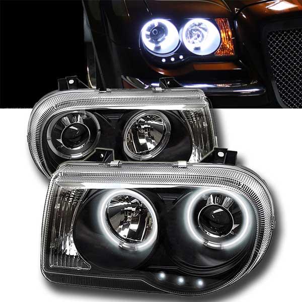 Angel Eyes strålkastare svart Chrysler 300C
