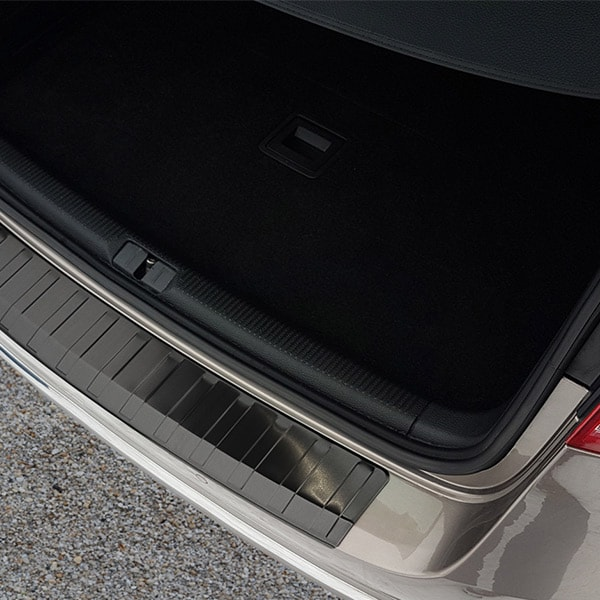 Rear bumper protector Black  brushed steel VW Passat B7 Variant