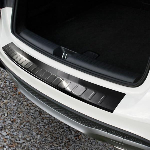 Rear bumper protector Black  brushed steel Mercedes GLA