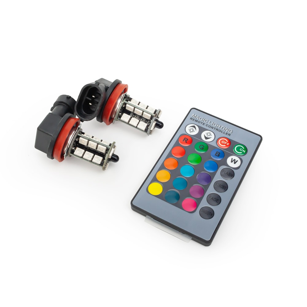 H11 LED RGB dimljuslampor 12V-24V