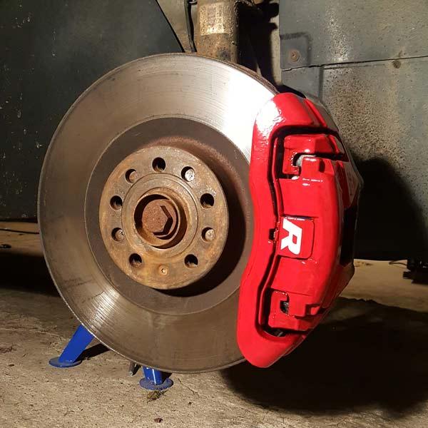 Bromsoksfärg Röd 2-komponents
