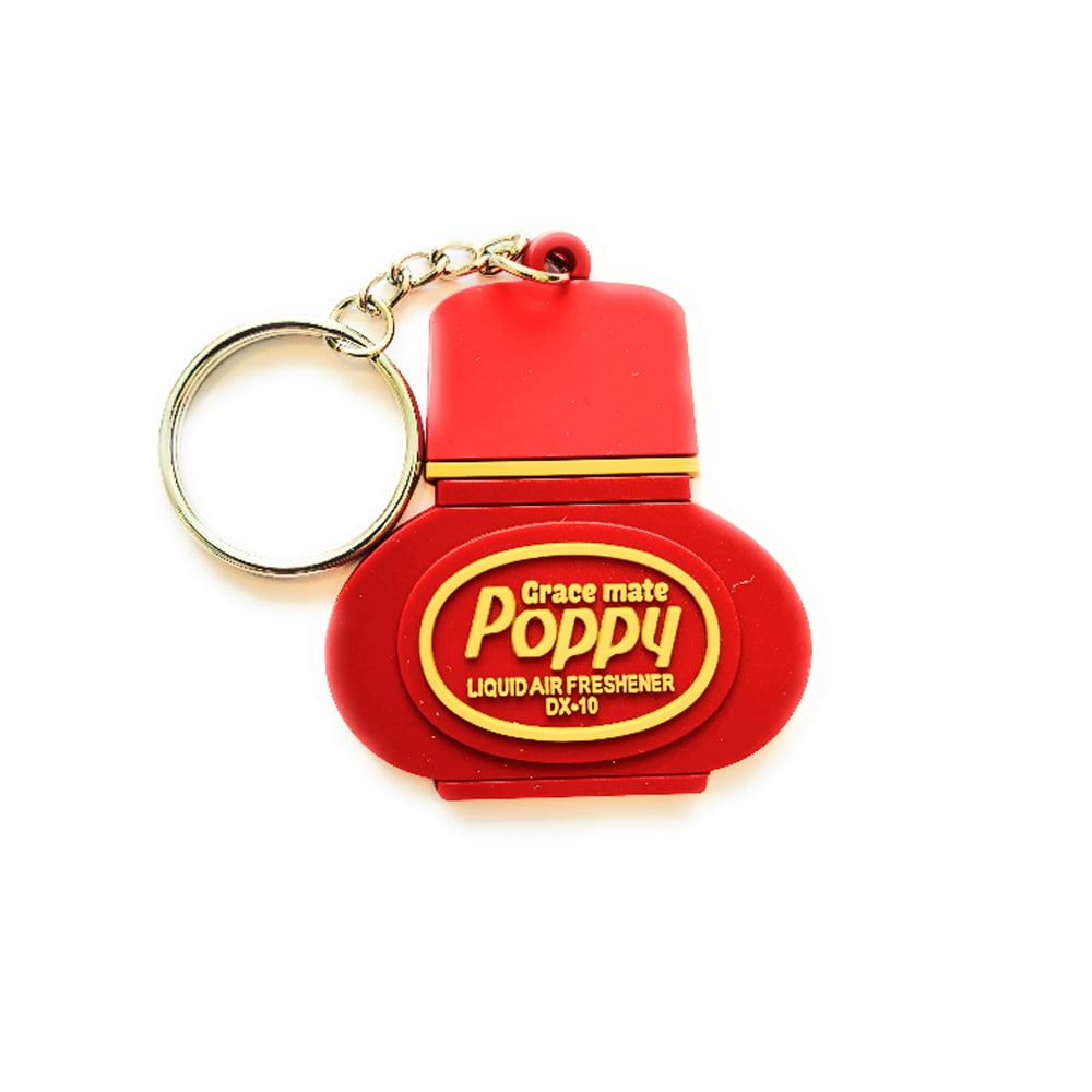 Poppy Grace Mate Nyckelring Gummi