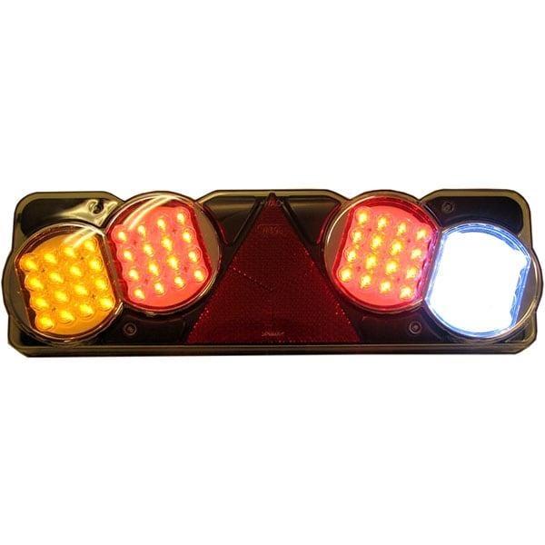 5 kammarlykta LED 24V Släp Hö