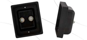 Rubber double housing for LED