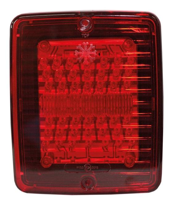 Dimljus LED med röd lins