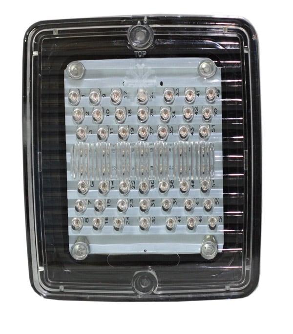 Blixtljus LED med klar lins