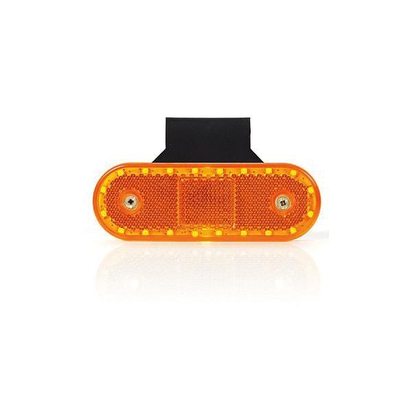LED Sidomarkering med vinkelfäste och reflex