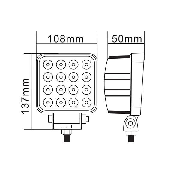 LED Arbetslampa SC Basic Slim - 48W
