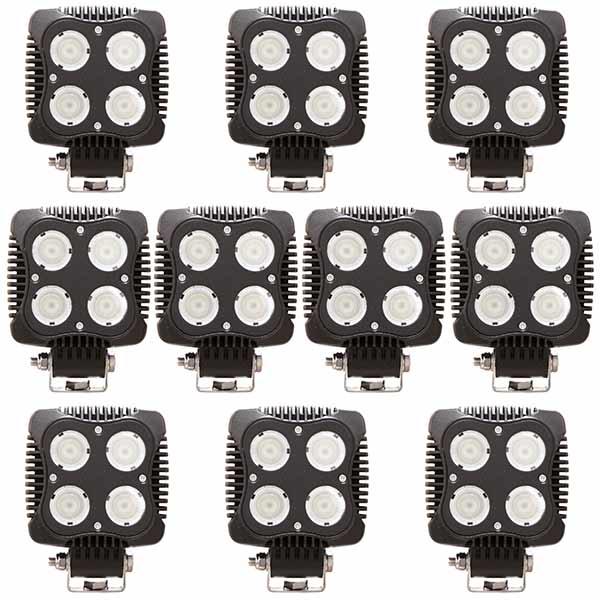 10-pack LED Arbetslampa 40W DT kontakt