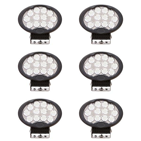 6-pack LED Arbetslampa Oval 120W DT kontakt