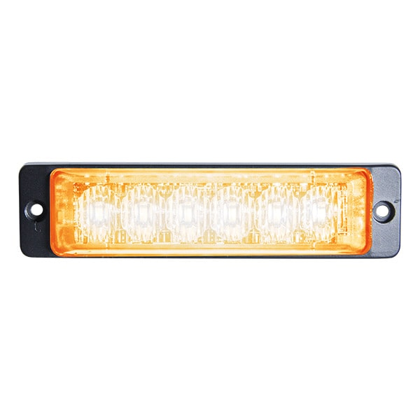 LED Blixtljus Slim Orange 6x LED