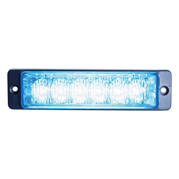 LED Strobe Slim Blue 6x LED