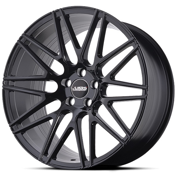 Complete wheel set of  ABS F10 Glossy black