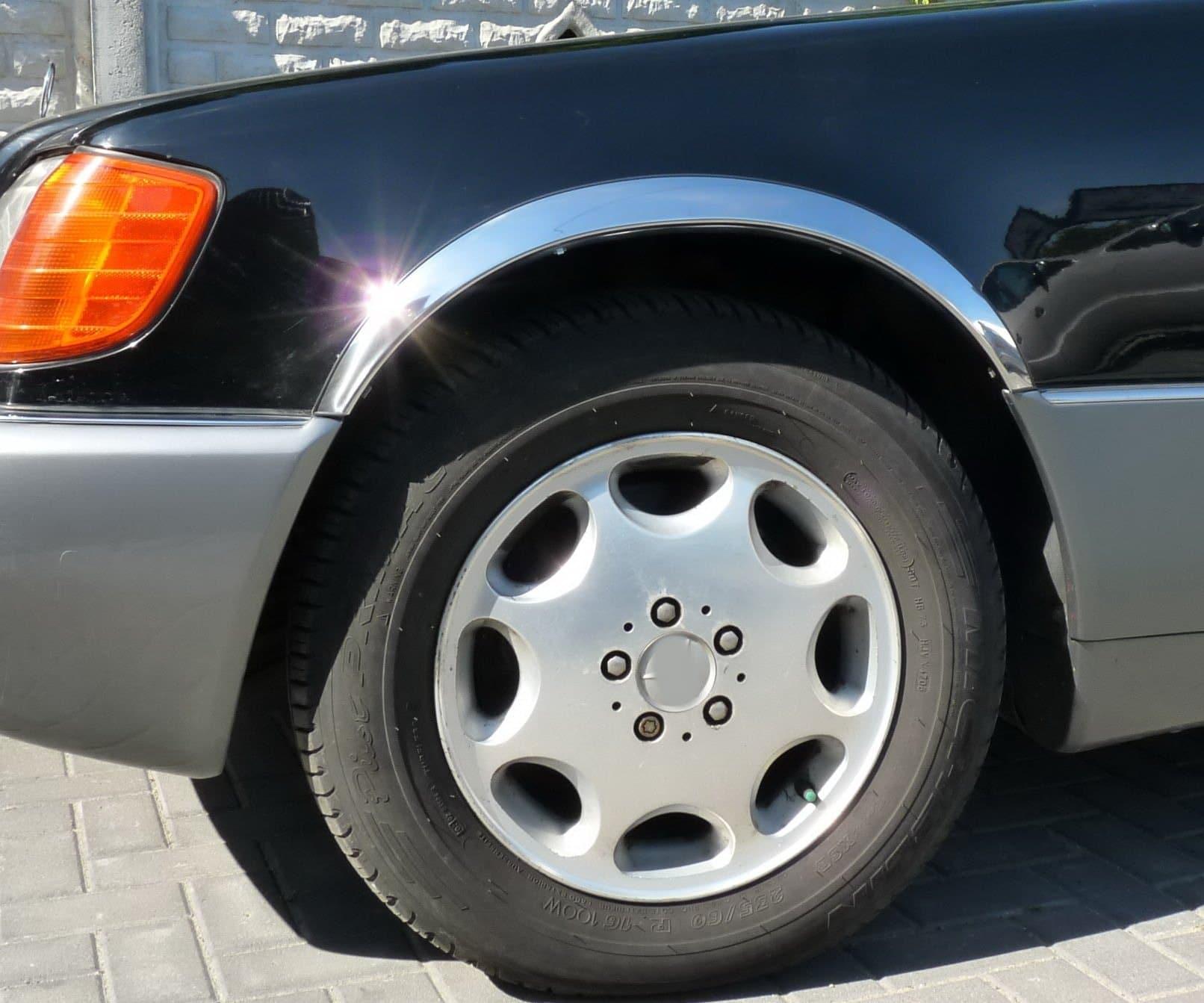 Skärmkantlister i krom Mercedes S-klass W140
