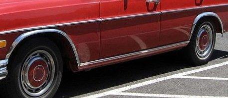 Skärmkantlister i krom Mercedes W108 , W109
