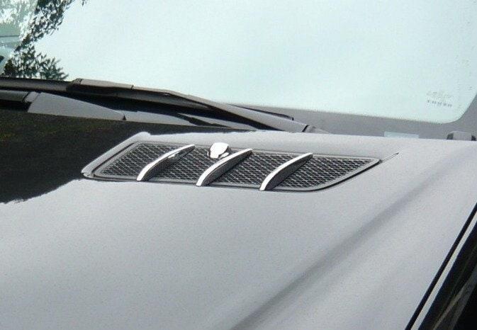 Kromade luftintag till motorhuv - 8st delar - Mercedes Benz W164 , X164