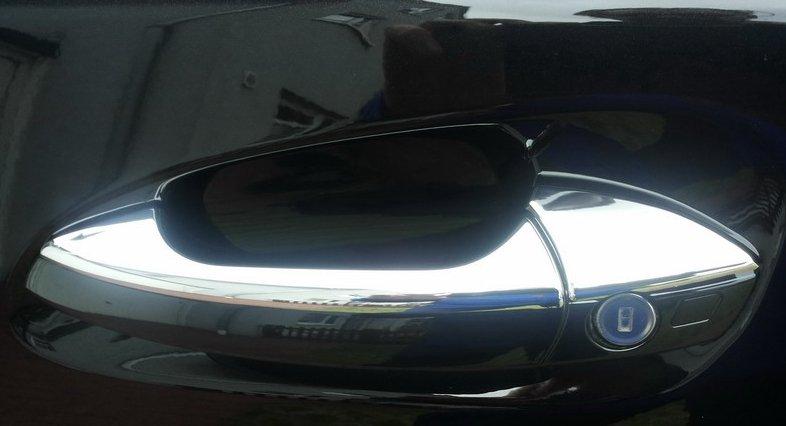 Kromade kåpor till dörrhandtag - Mercedes Benz W212 , W204 , X204