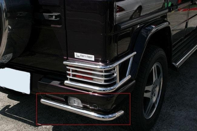 Chrome cage for tail lights rear- Mercedes Benz W463