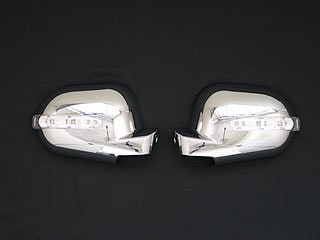 Kromade spegelkåpor (m. LED-blinkers), Krom - Mercedes Benz W163