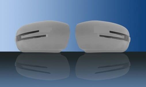 Olackade spegelkåpor (m. LED-blinkers) - Mercedes Benz  W203,W211