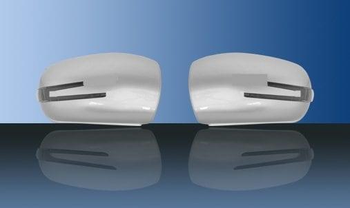 Silverfärgade spegelkåpor (m. LED-blinkers) - Mercedes Benz  W203,W211