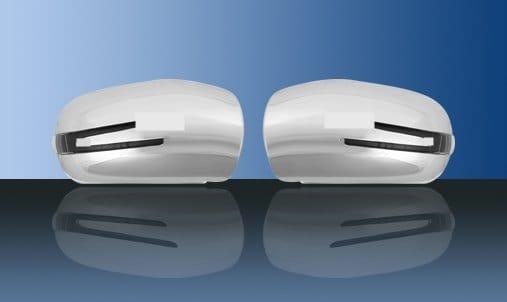 Kromade spegelkåpor (m. LED-blinkers) - Mercedes Benz W203,W211
