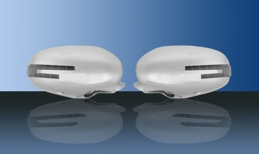 Siver colored mirror covers (with LED indicators up to 2009 - Mercedes Benz W221