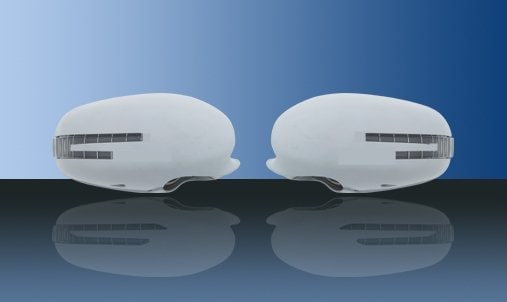 Unpainted mirror covers (with LED indicators up to 2009 - Mercedes Benz  W221