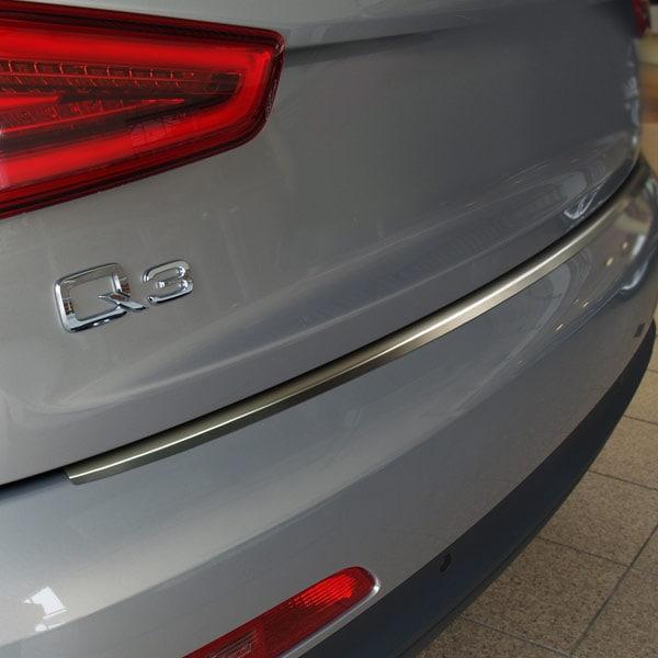 Rear bumper protector brushed steel Audi Q3