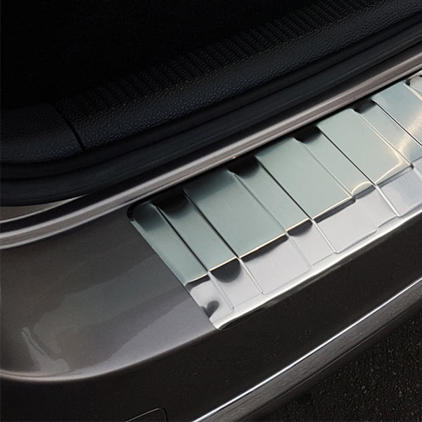 Rear bumper protector brushed steel VW Passat B7 Variant