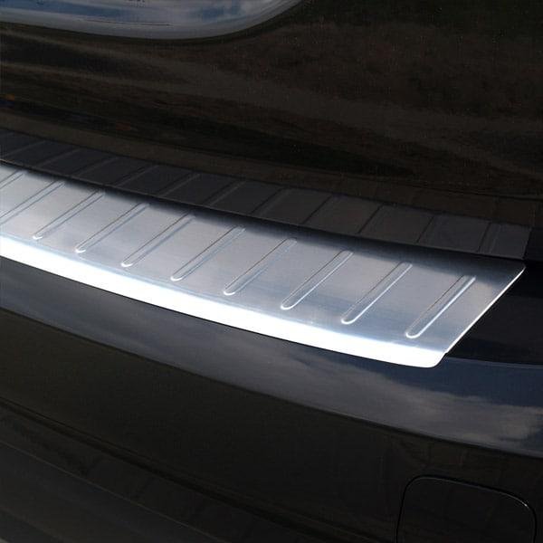 Rear bumper protector brushed steel Volvo V60